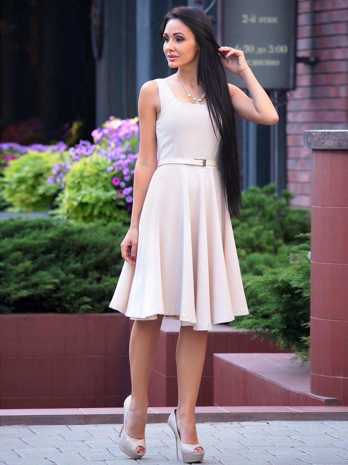 Платье бежевое | 2528732