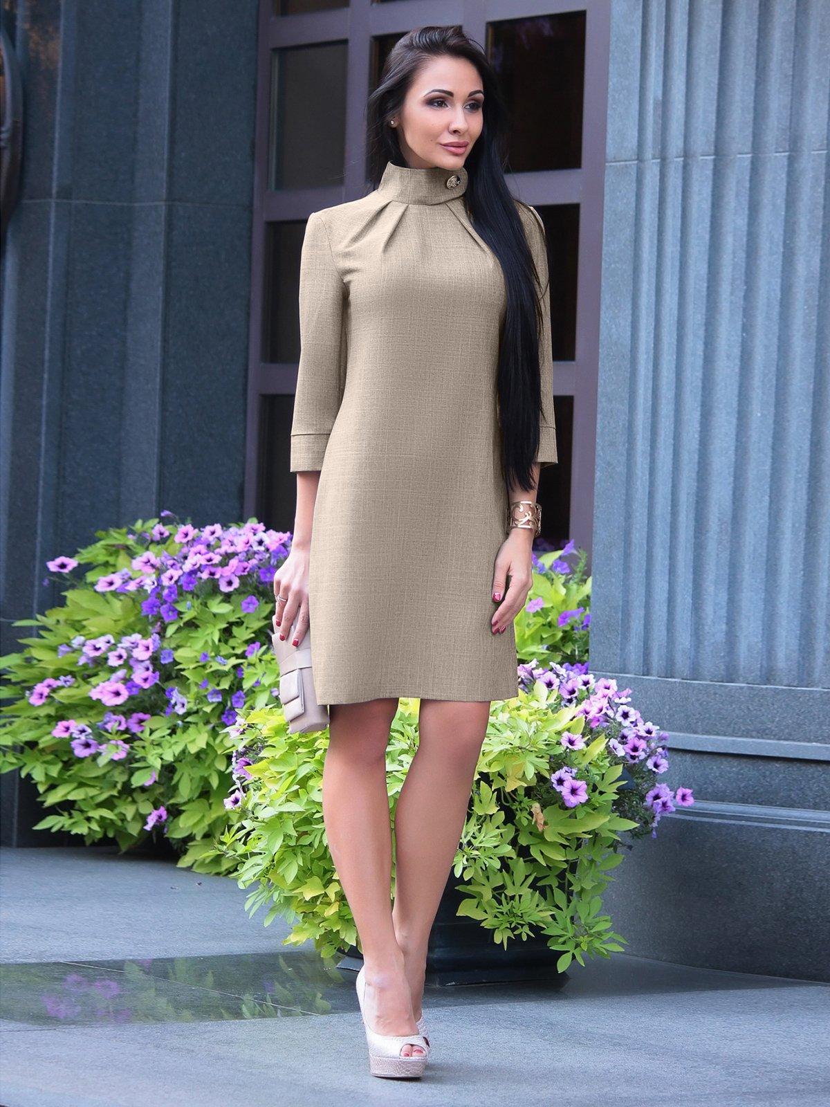 Сукня кольору хакі | 2559036