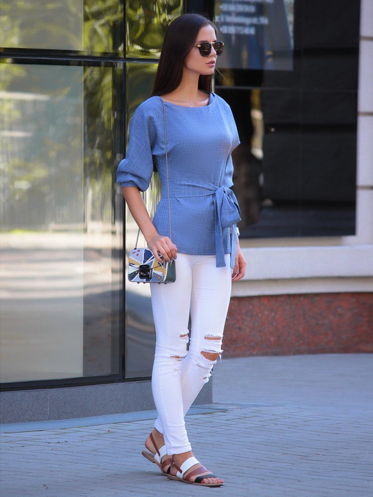 Блуза светло-сиреневая | 2849552