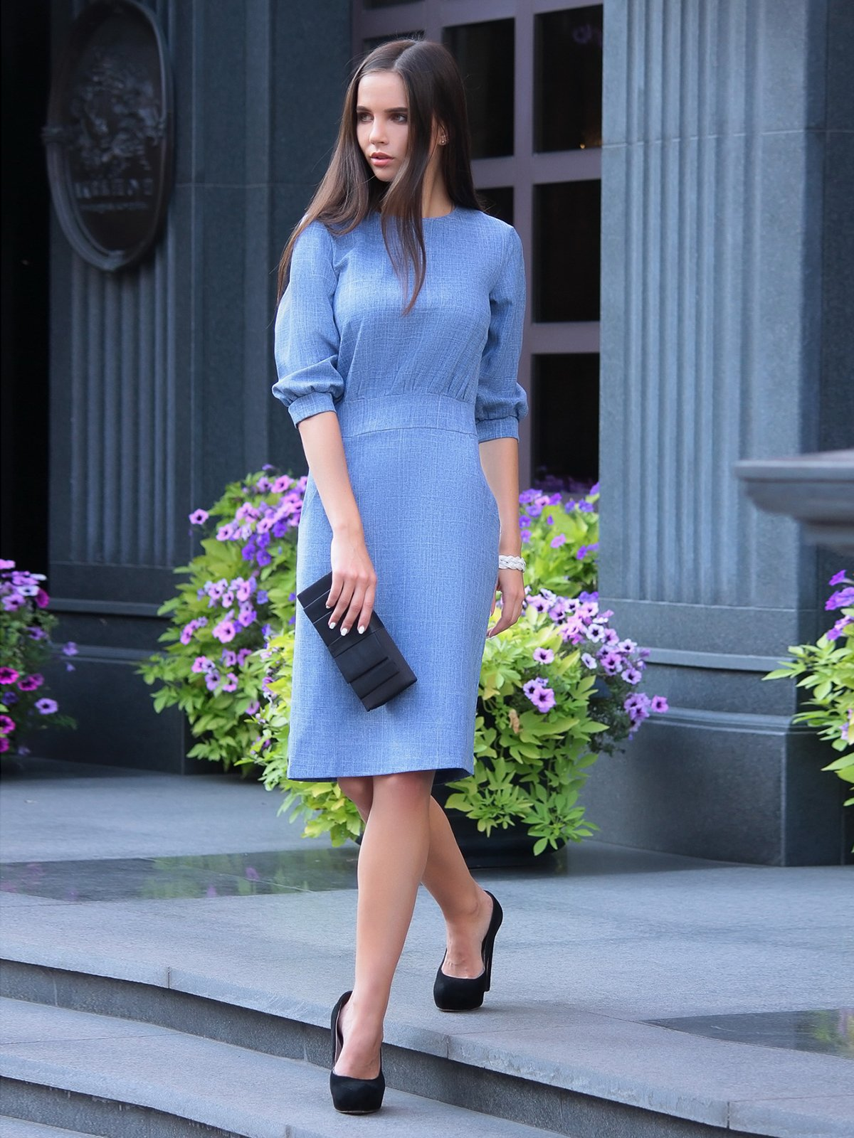 Платье светло-сиреневого цвета   2925438