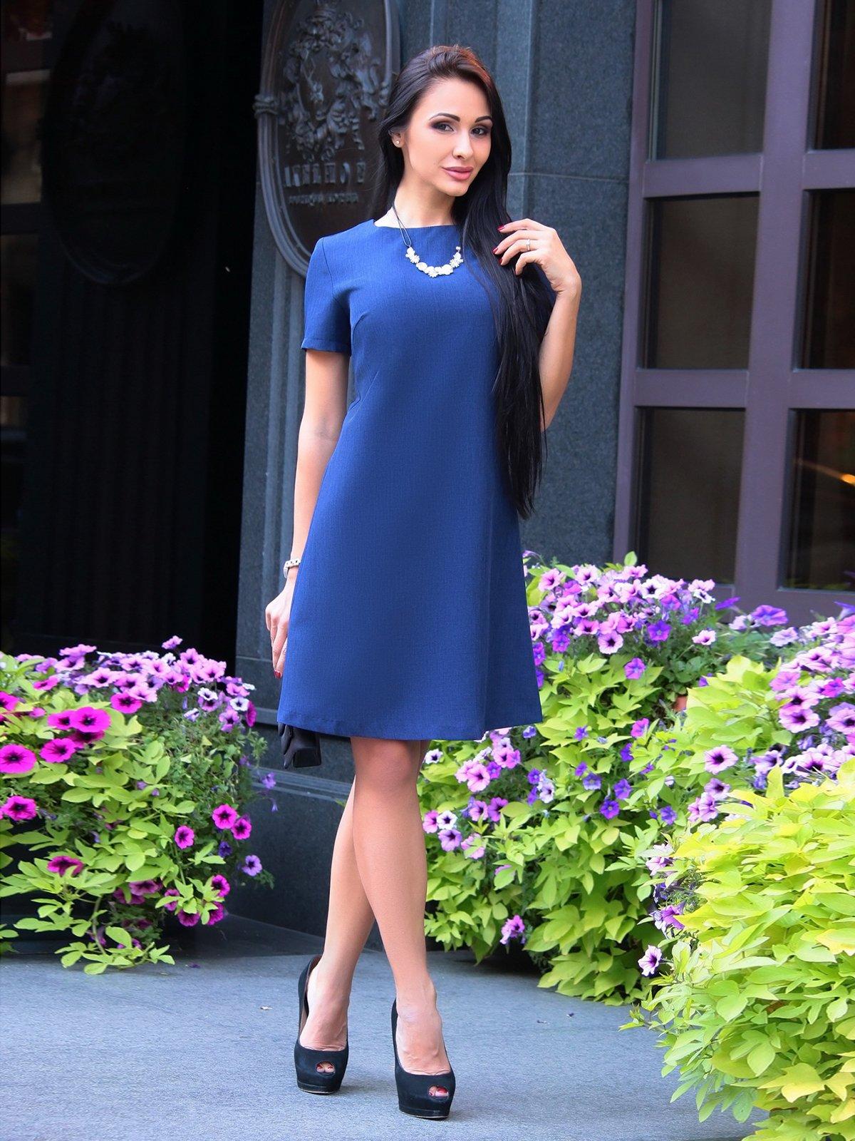 Платье темно-синее | 3060928
