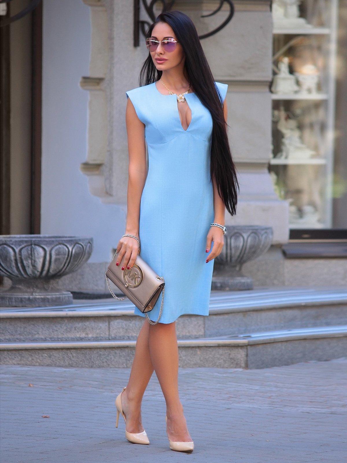 Сукня-сарафан блакитна | 3302007