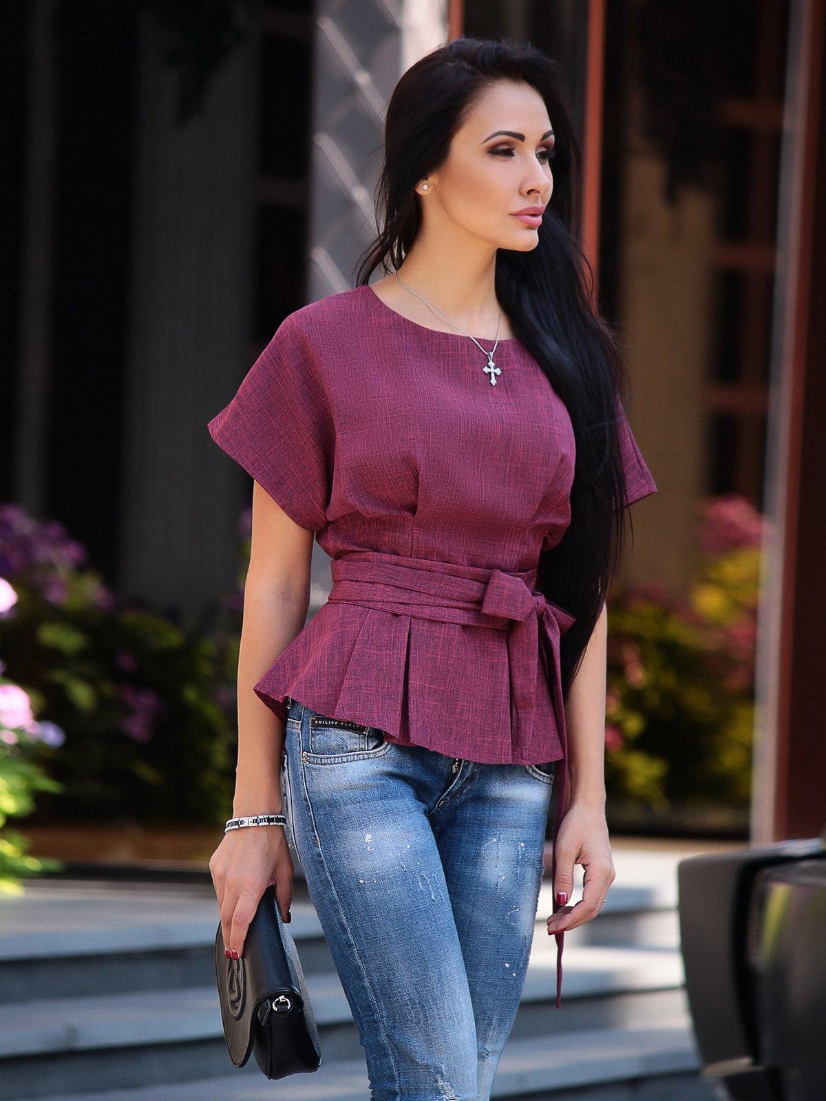 Блуза сливового кольору | 3317494