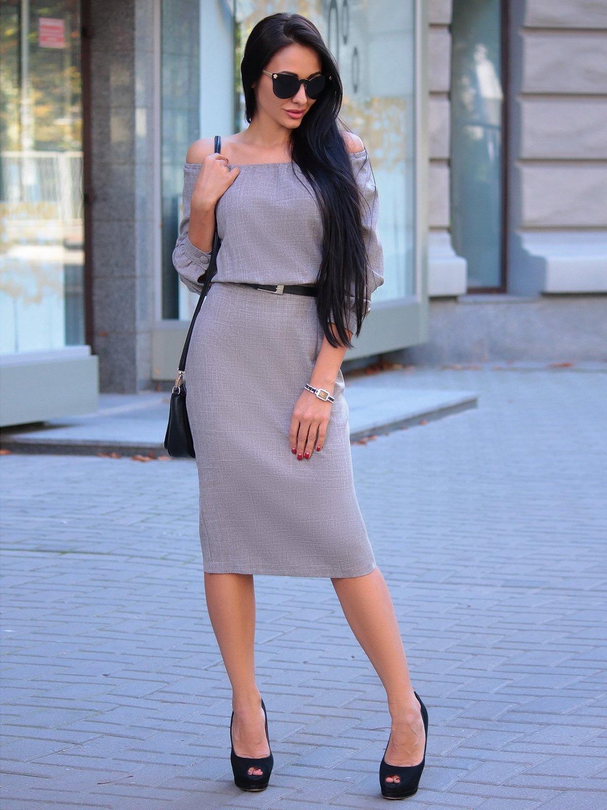 Сукня кольору мокко | 3323350