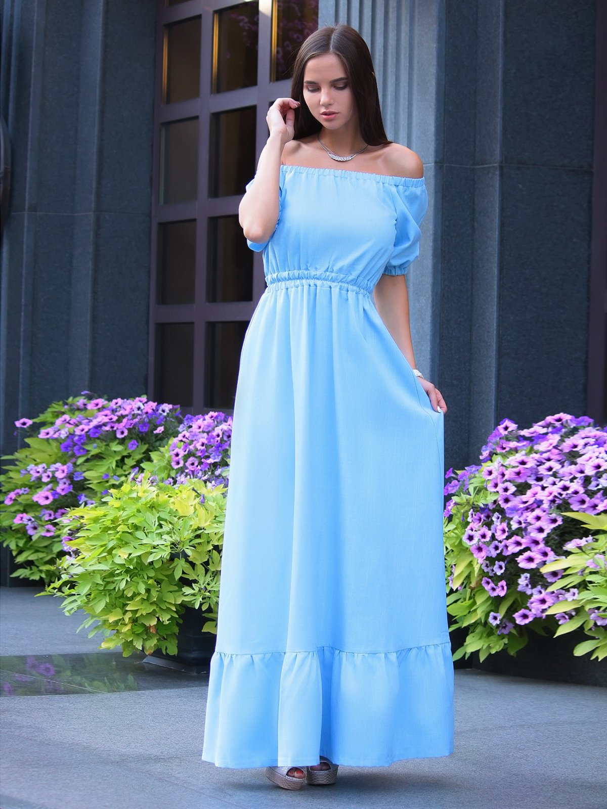 Сукня блакитна | 3323541