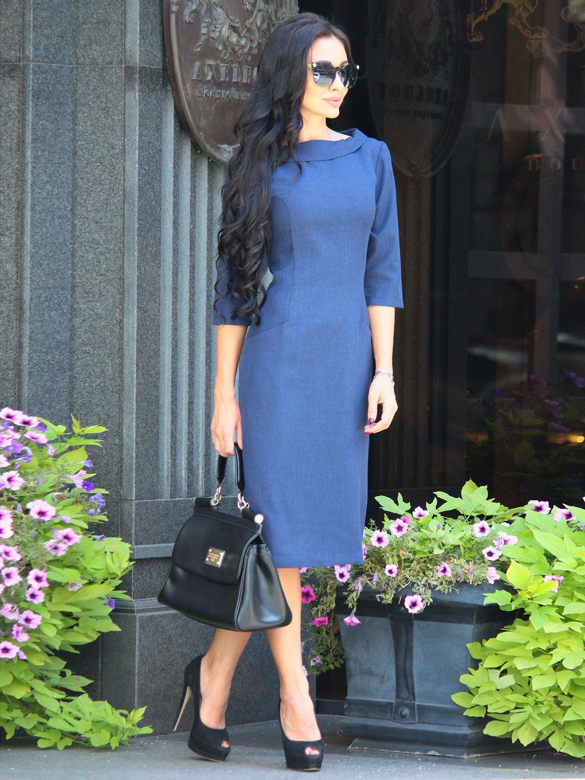 Платье темно-синее | 3398202 | фото 4