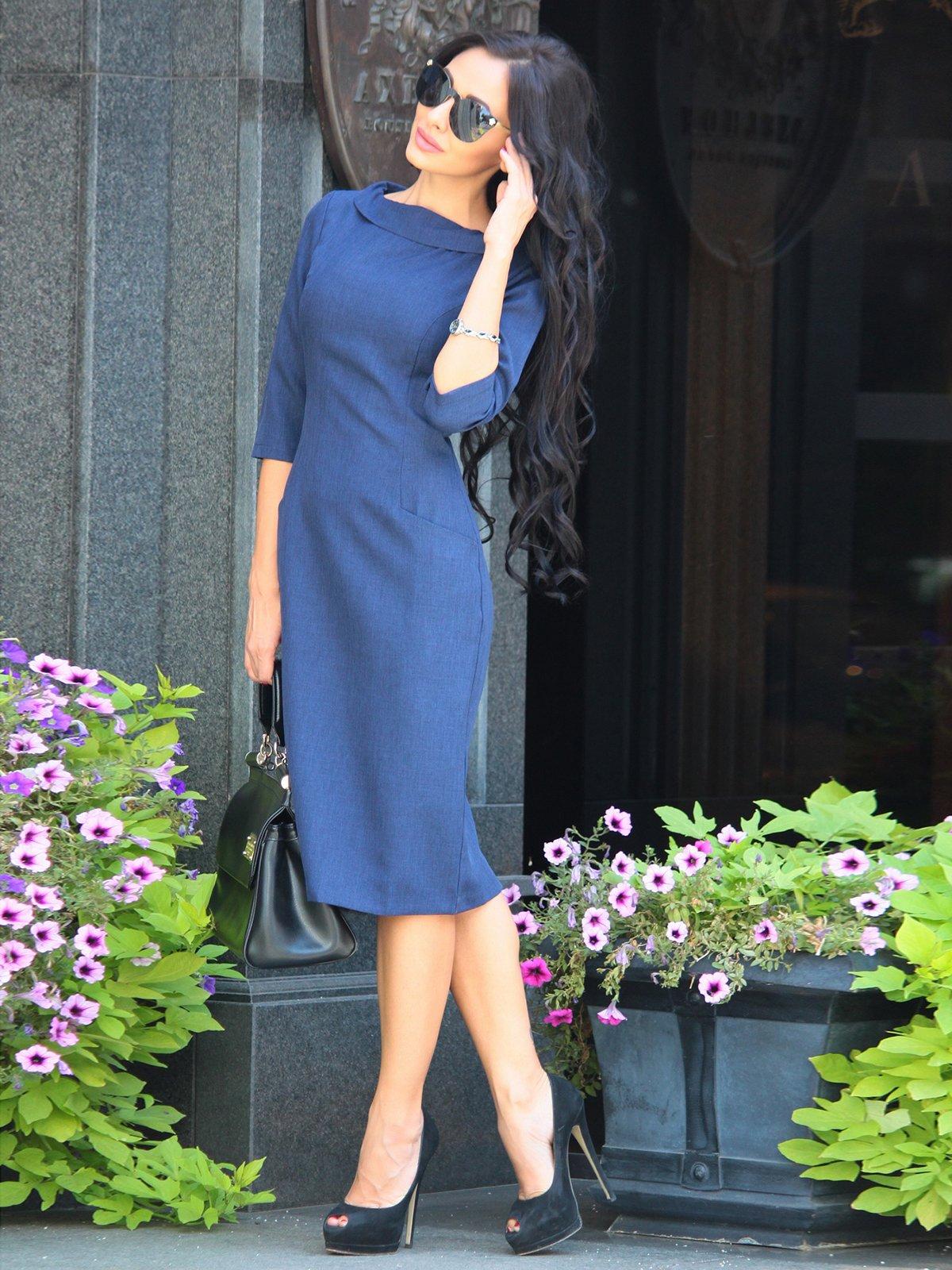Платье темно-синее | 3398202 | фото 5
