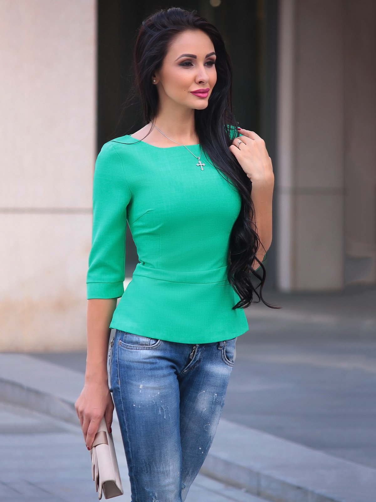 Блуза зеленая | 3503897