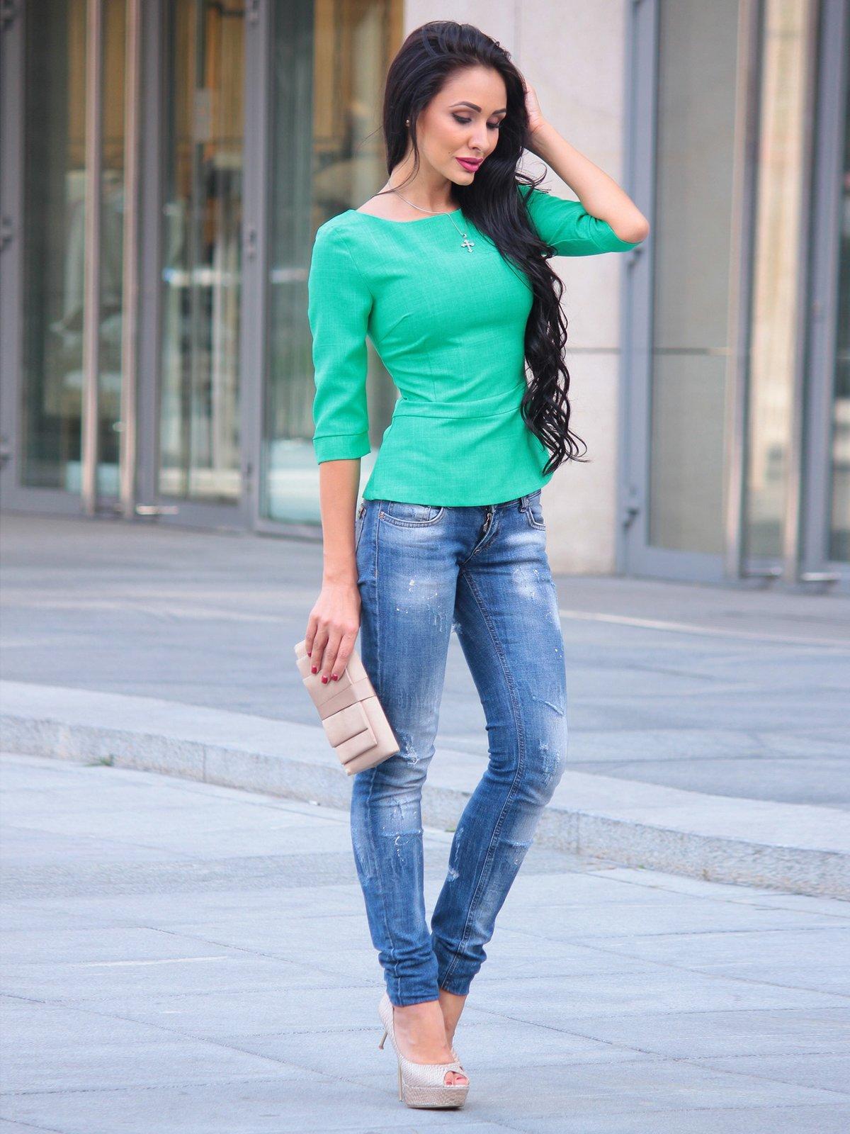 Блуза зеленая | 3503897 | фото 2
