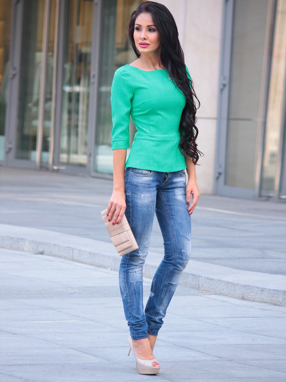 Блуза зеленая | 3503897 | фото 3