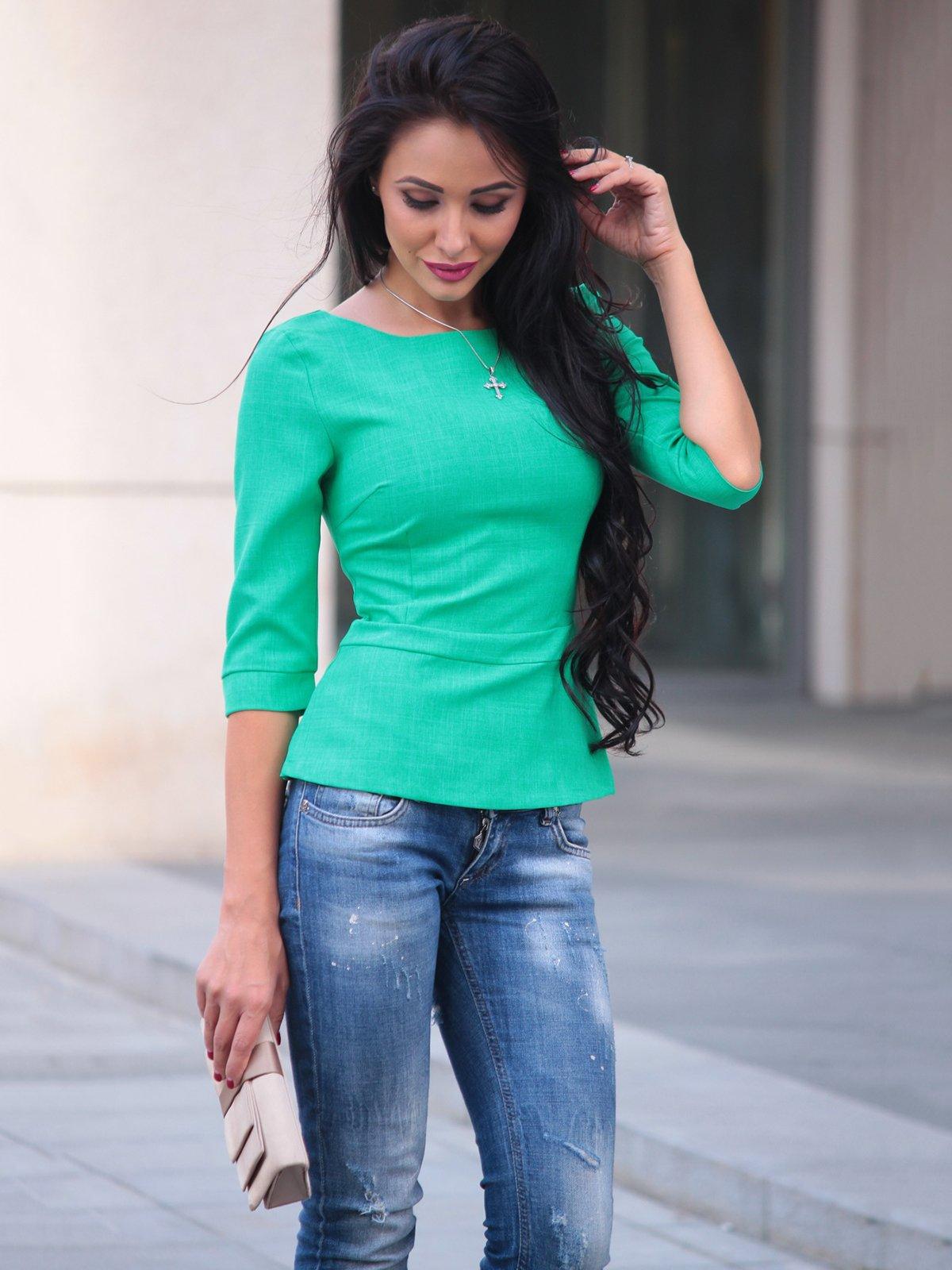 Блуза зеленая | 3503897 | фото 4