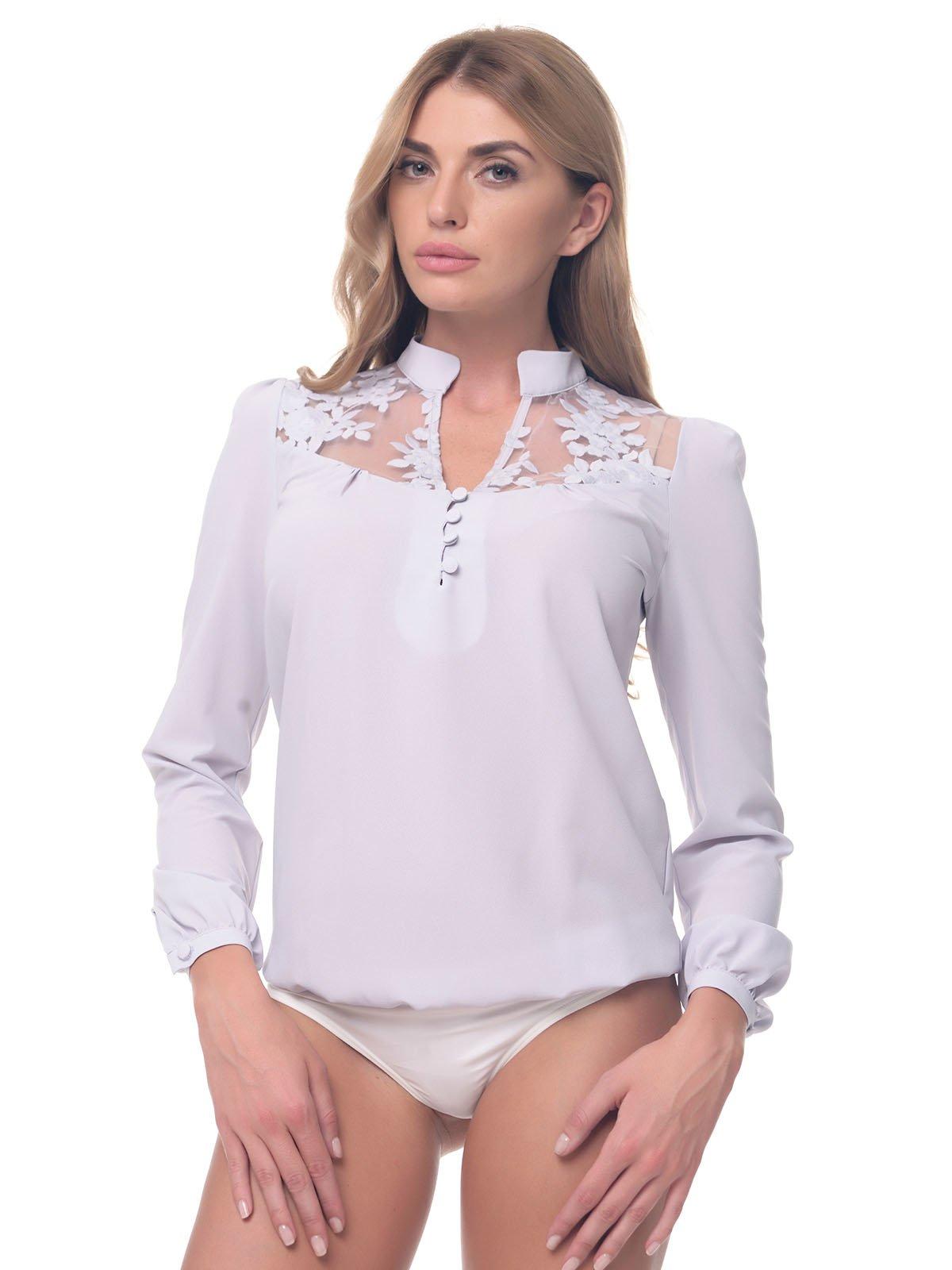 Блуза-боді сіра | 3918281