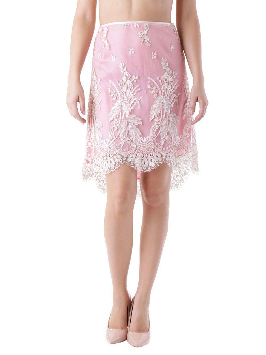 Юбка розово-белая с вышивкой   3921006