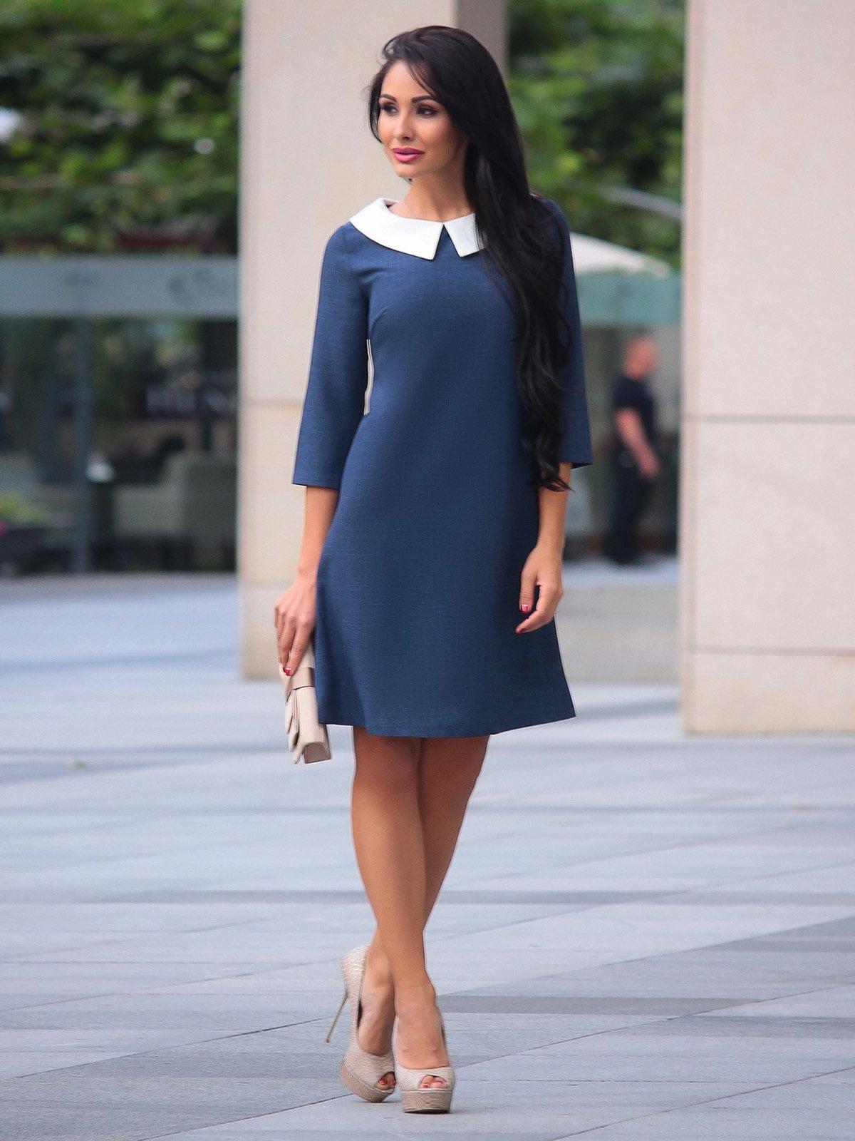 Платье темно-синее | 3924025