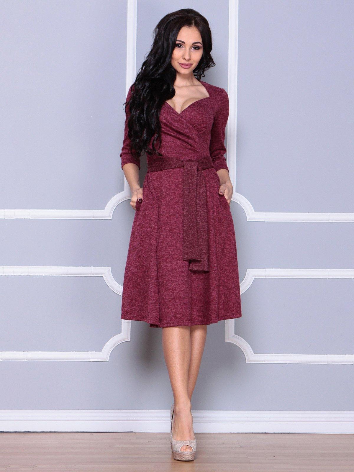 Платье бордовое | 3926391