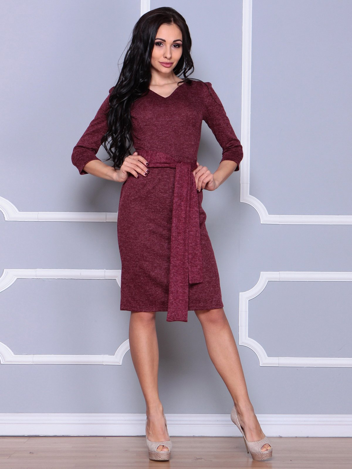 Платье бордовое   3926405