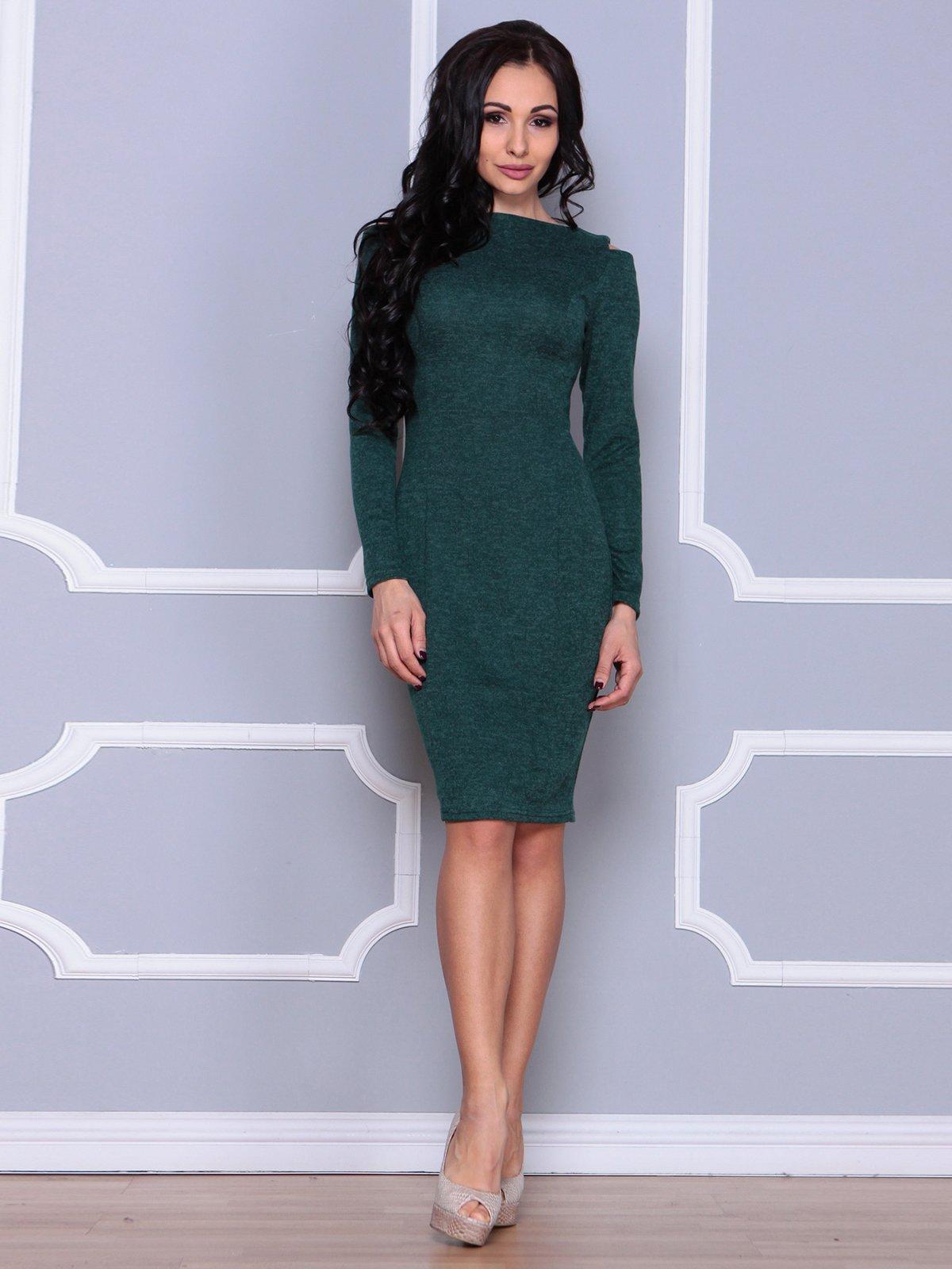 Платье темно-изумрудного цвета | 3926433