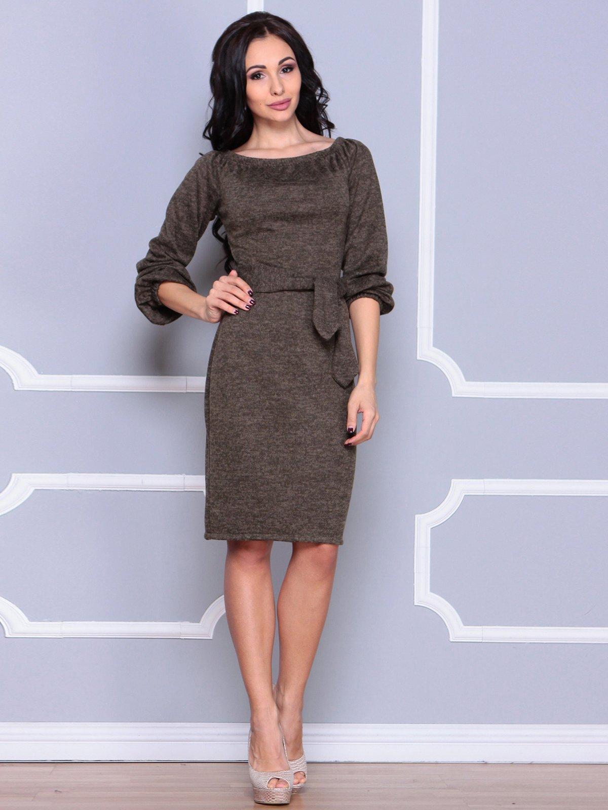 Платье цвета темный хаки | 3929760