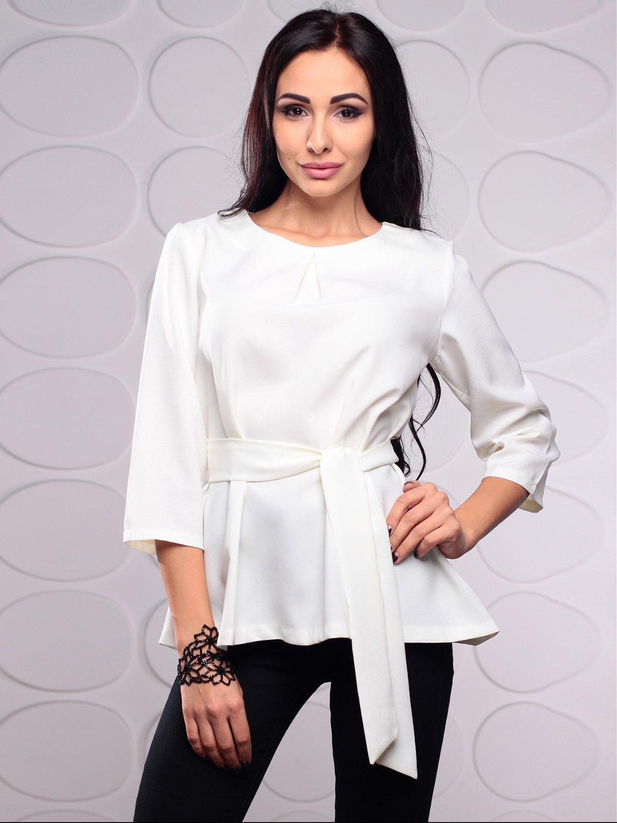 Блуза молочного кольору | 3929773