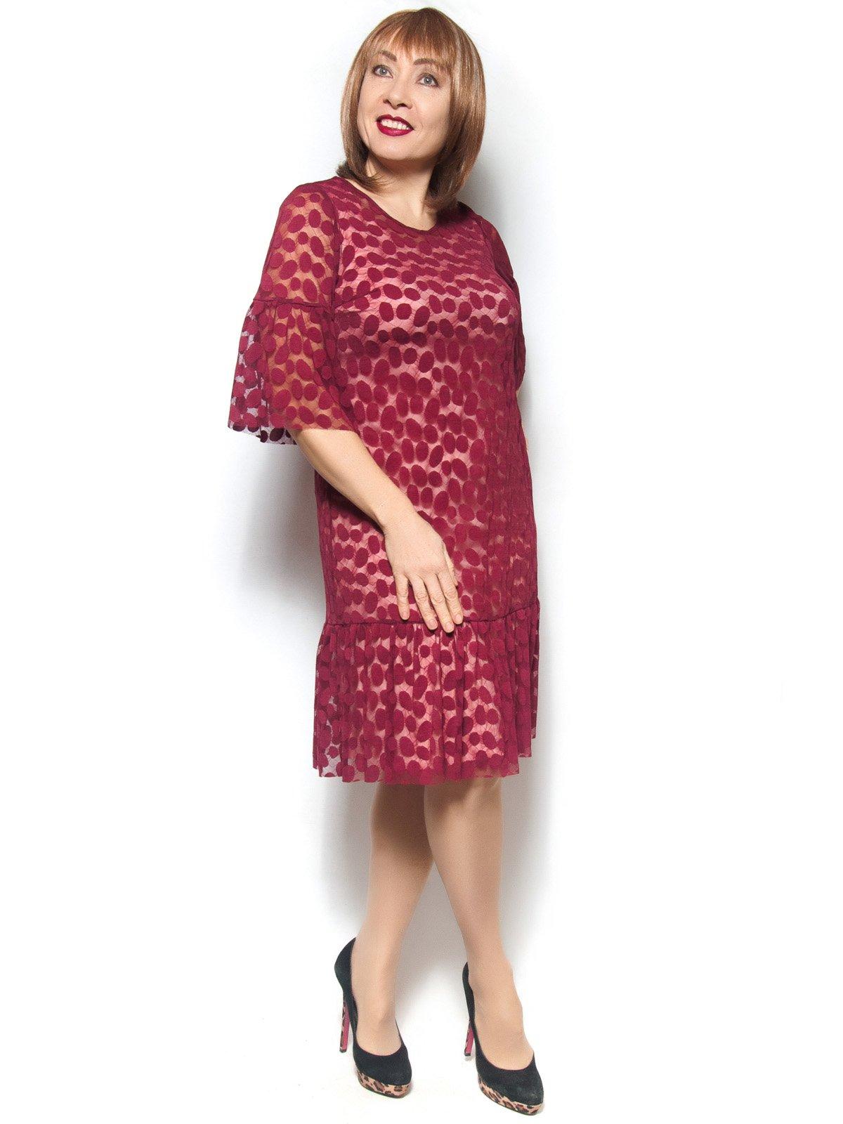 Платье бордовое   3936457