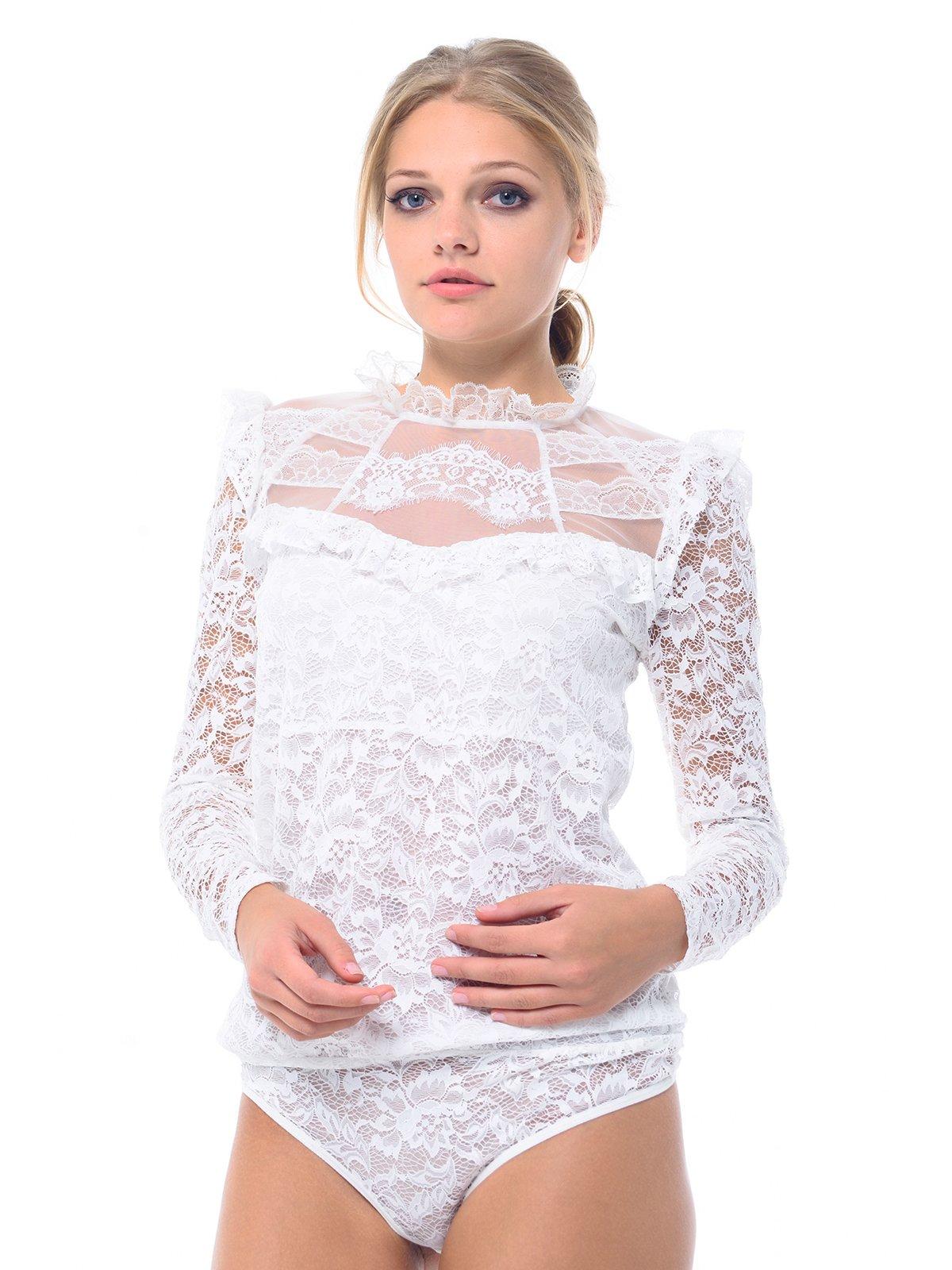 Блуза-боди молочного цвета | 3845678