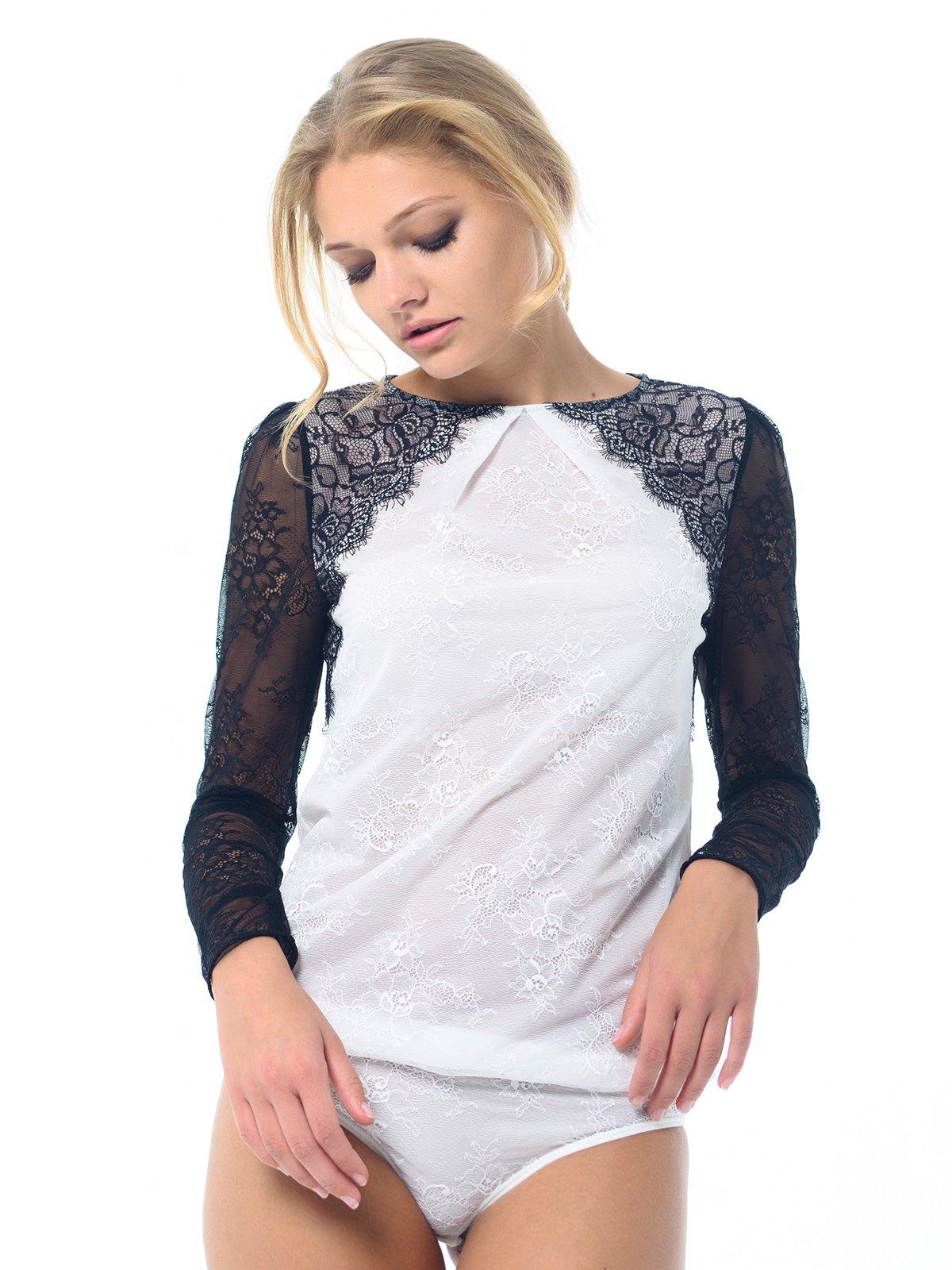 Блуза-боди двухцветная | 3880150