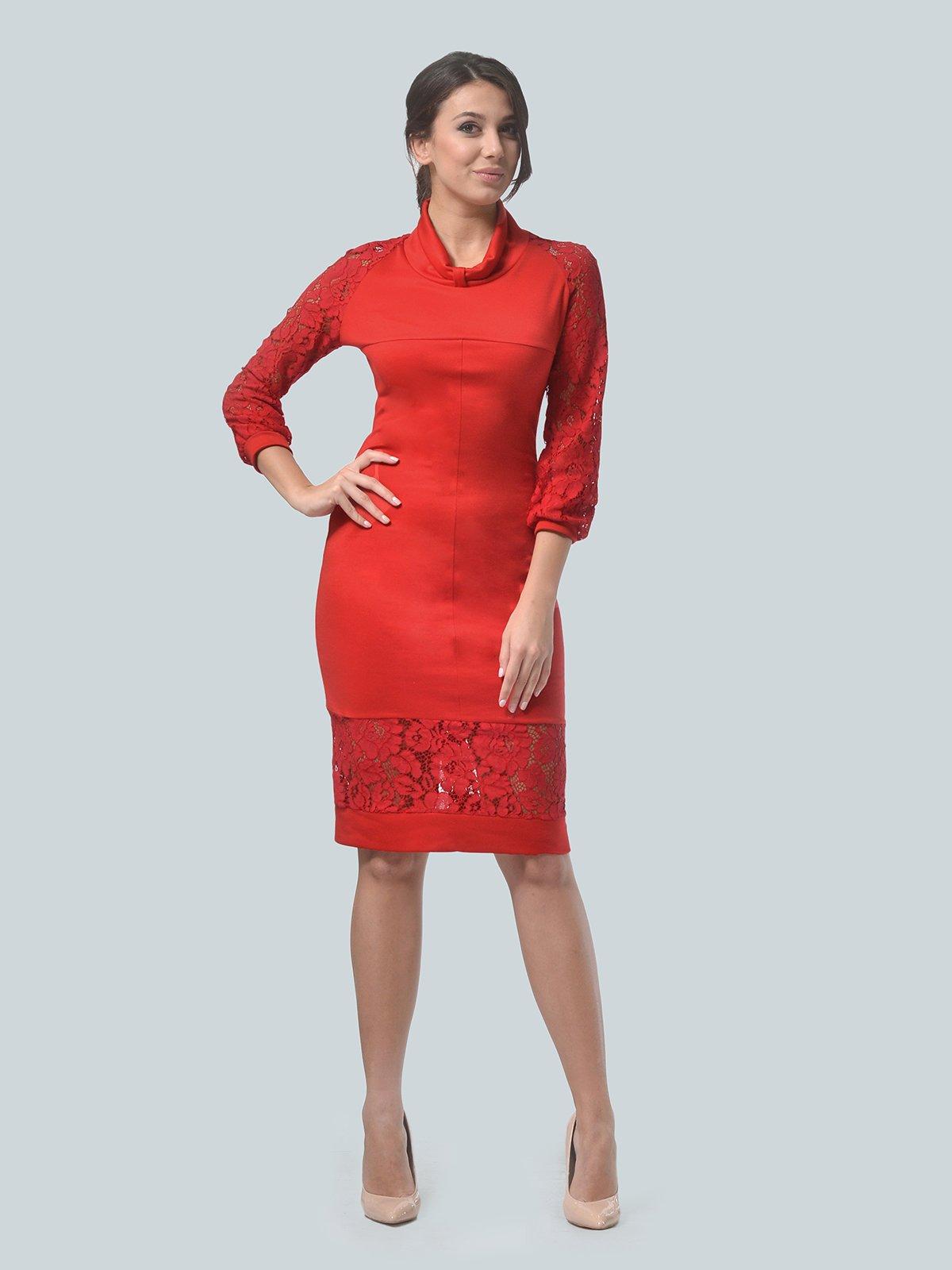 Платье красное   3939903   фото 4