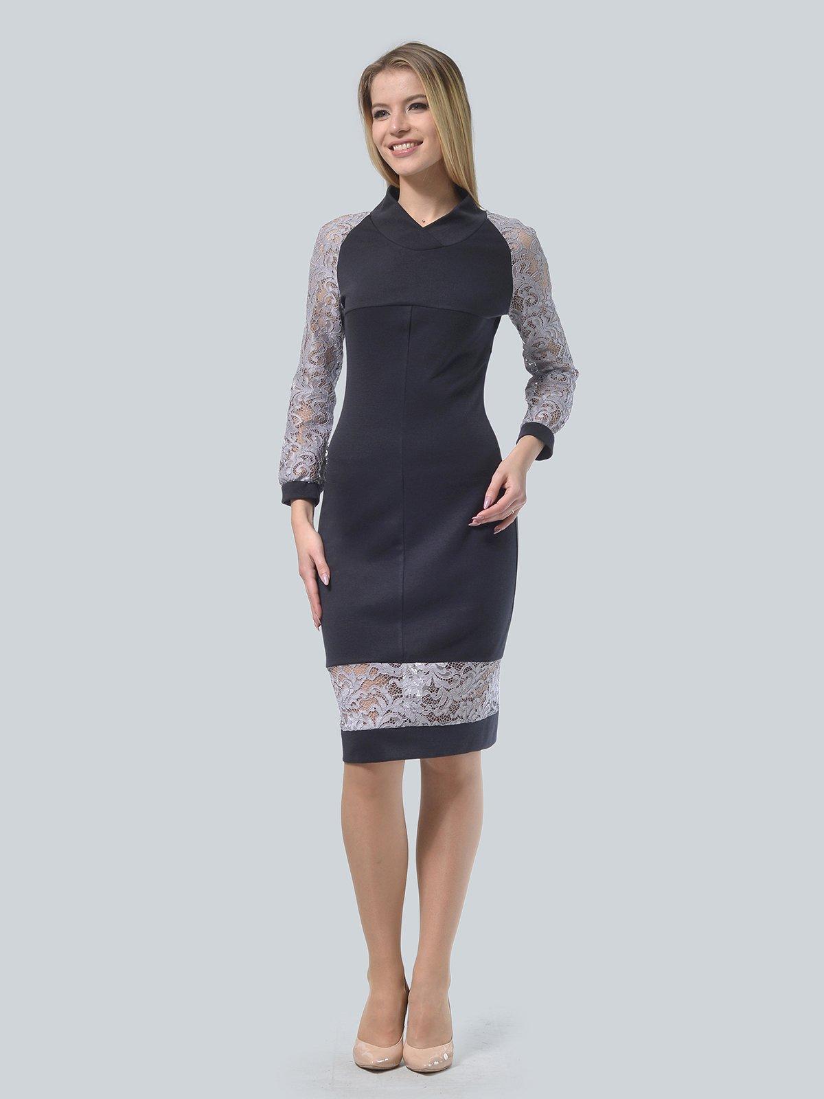 Платье графитового цвета | 3939905