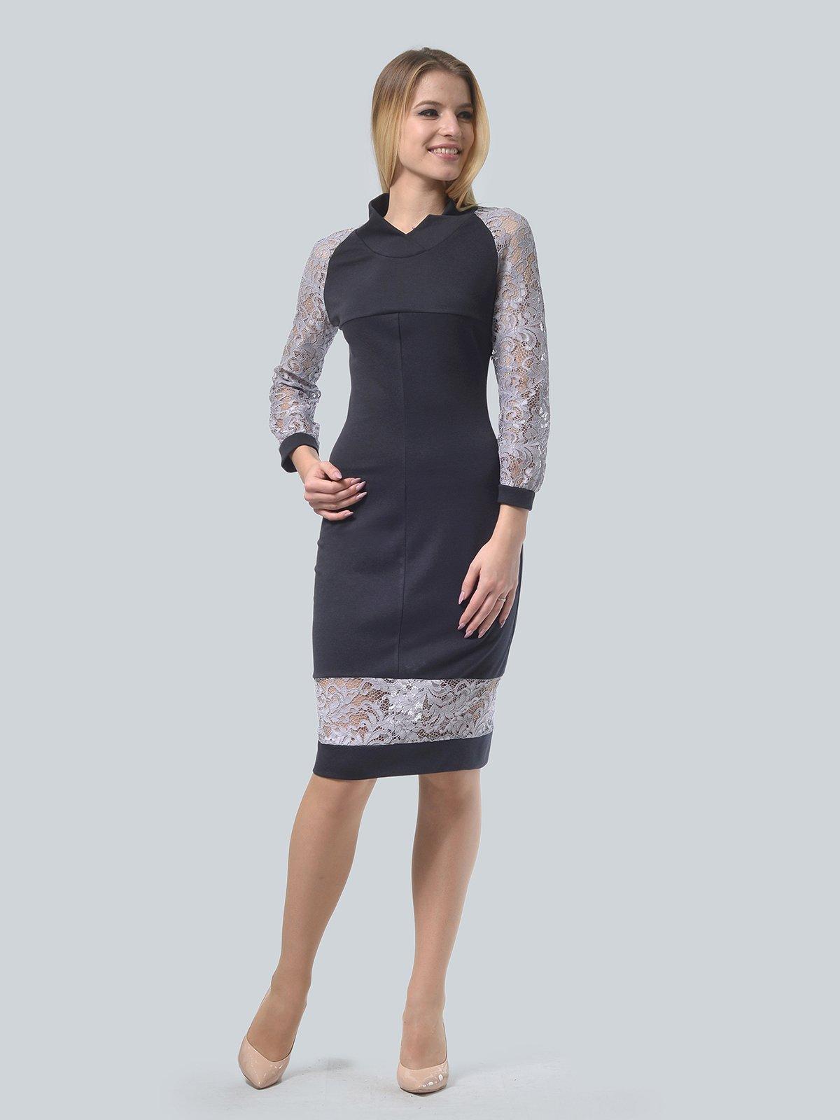Платье графитового цвета | 3939905 | фото 2