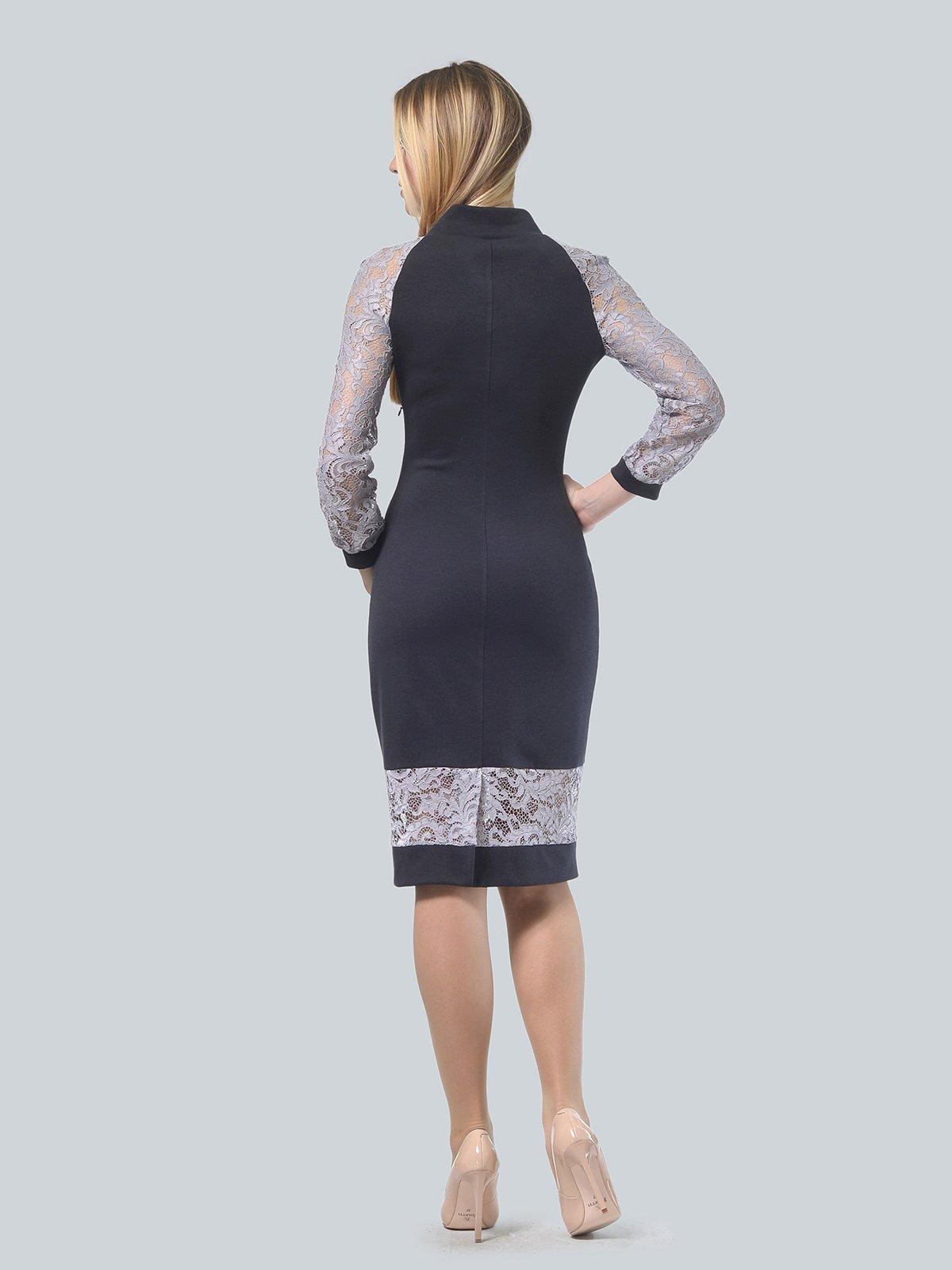Платье графитового цвета | 3939905 | фото 3