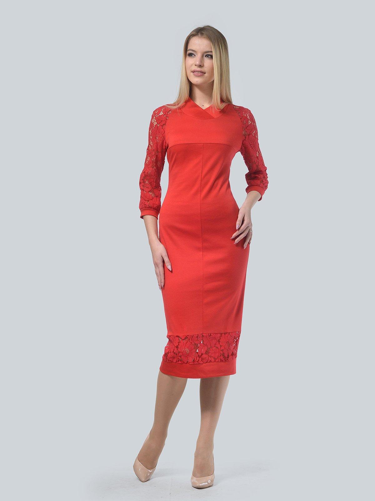 Платье красное | 3939906