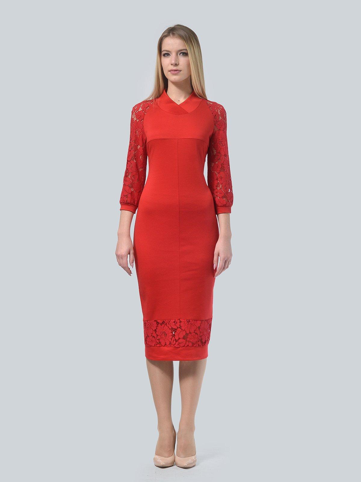 Платье красное | 3939906 | фото 2