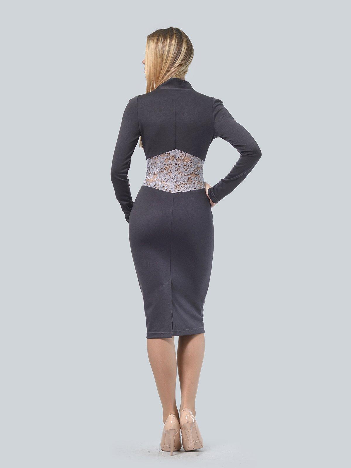 Платье графитового цвета | 3939913 | фото 3