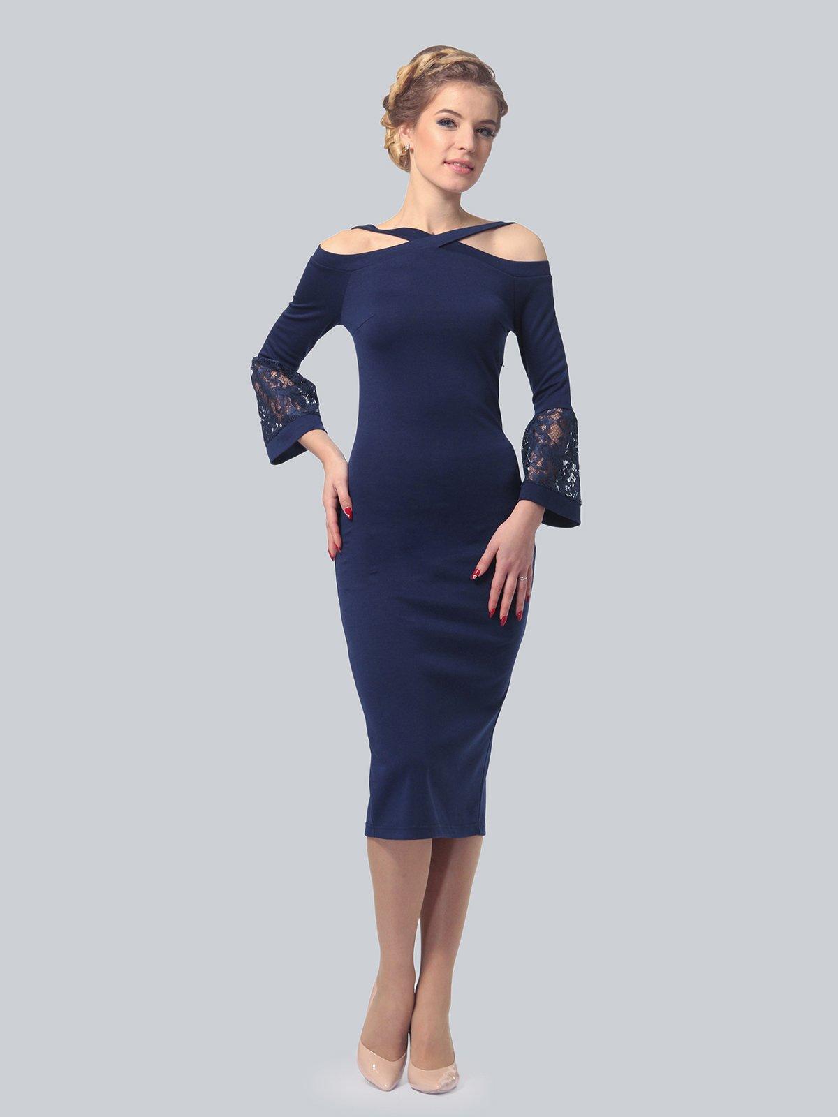 Платье темно-синее | 3939924