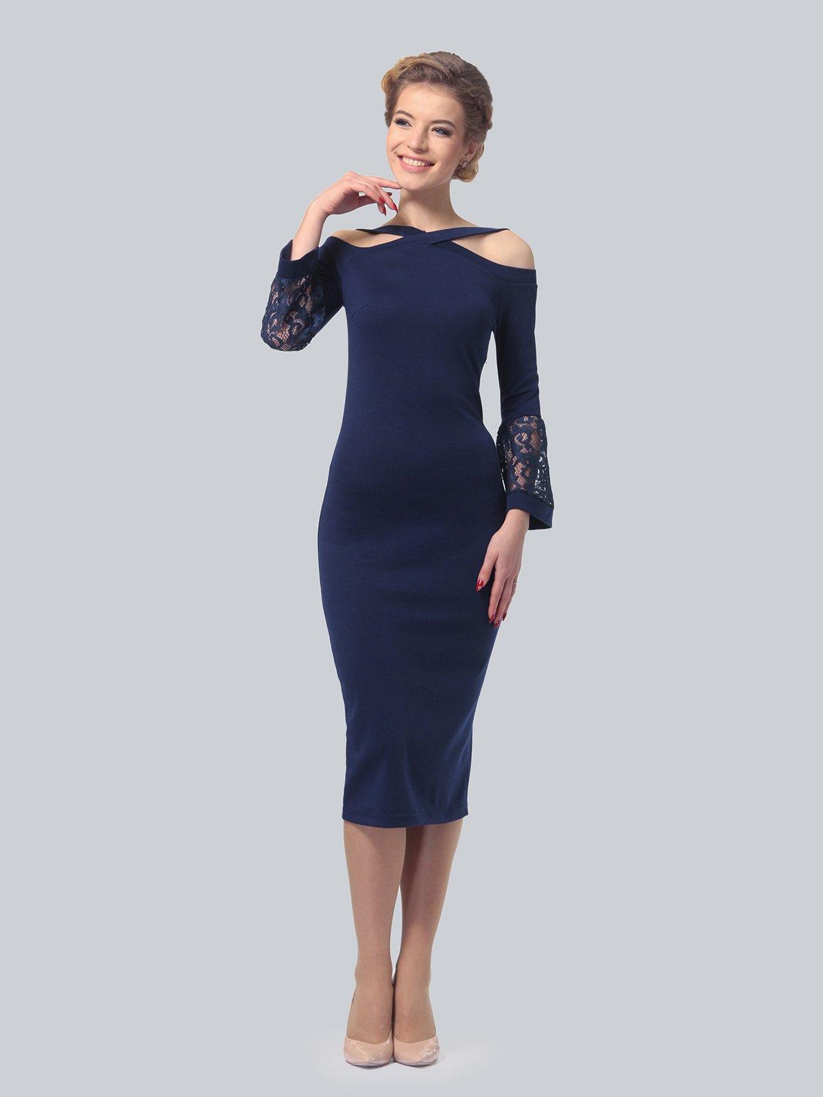 Платье темно-синее | 3939924 | фото 2