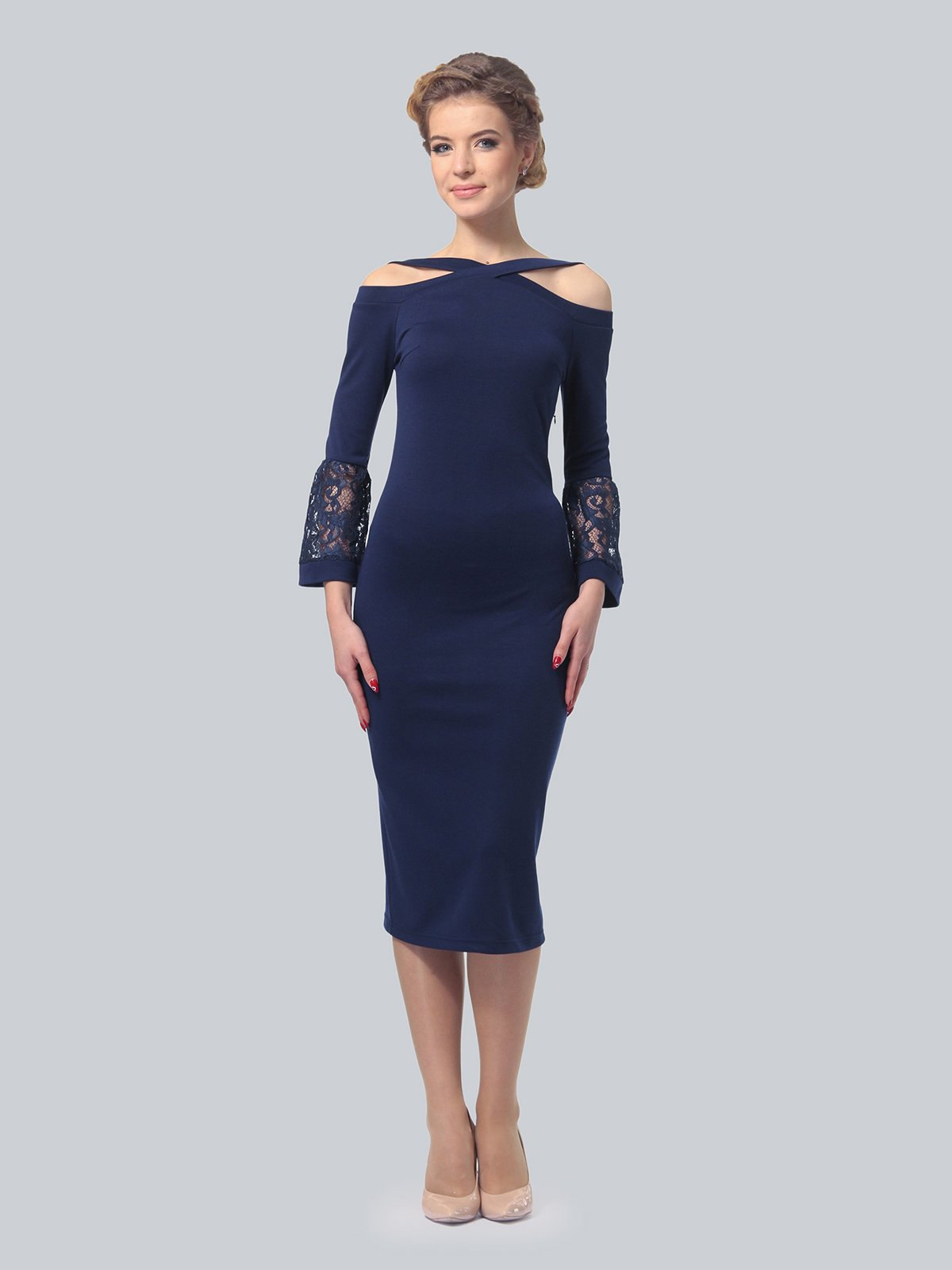 Платье темно-синее | 3939924 | фото 3