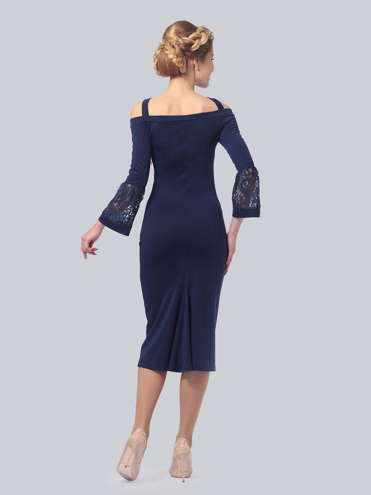 Платье темно-синее | 3939924 | фото 4