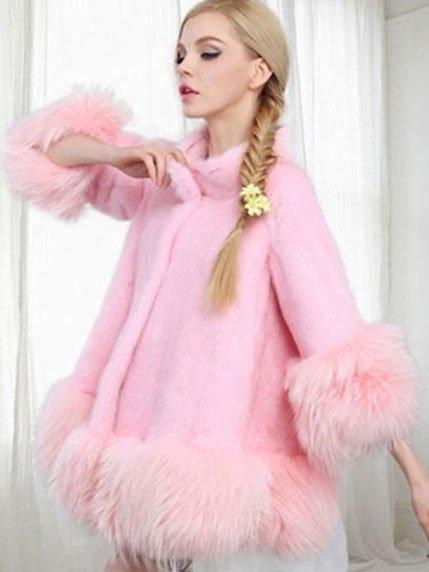 Полушубок розовый | 3941383