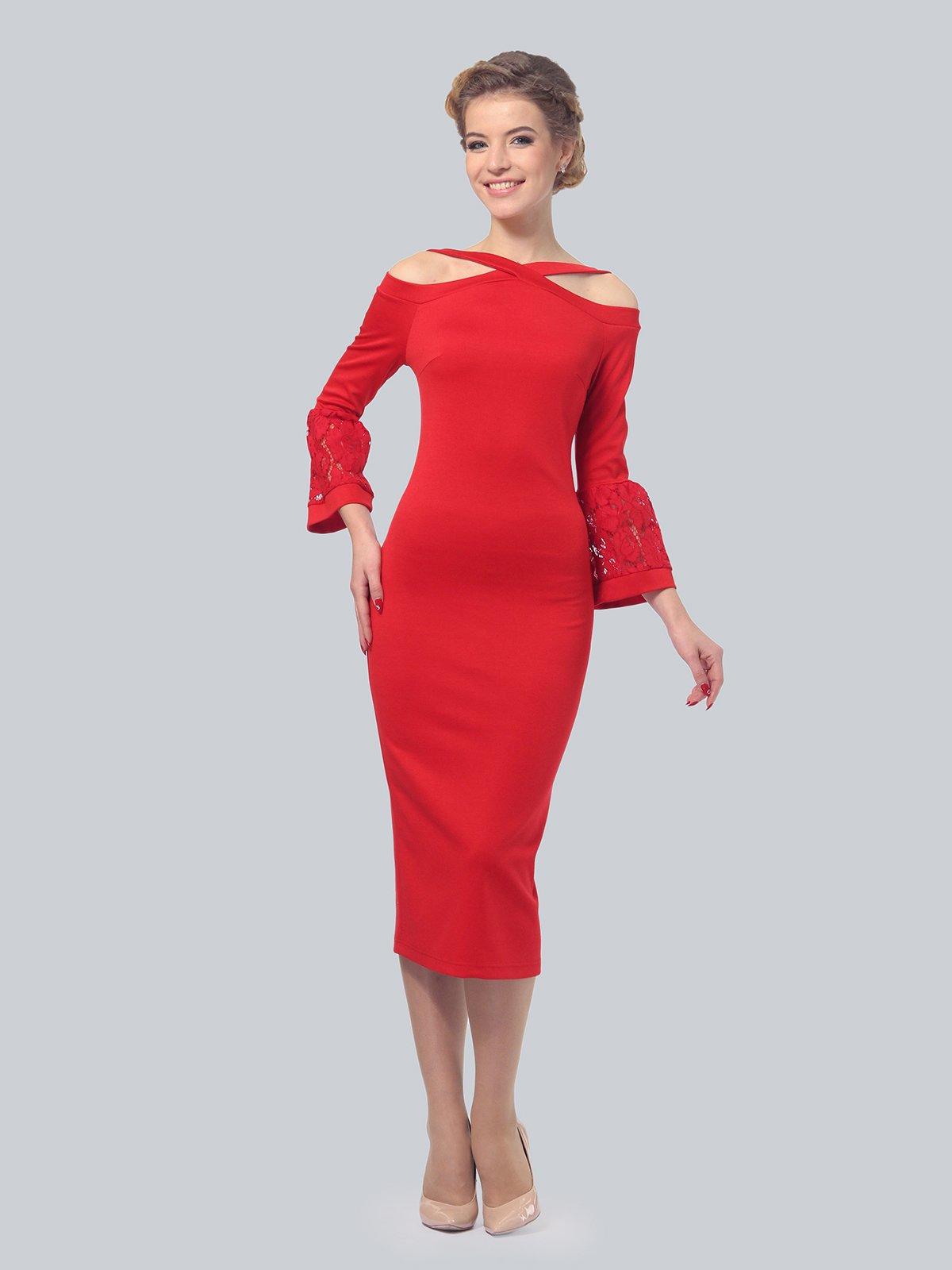 Платье красное | 3939922