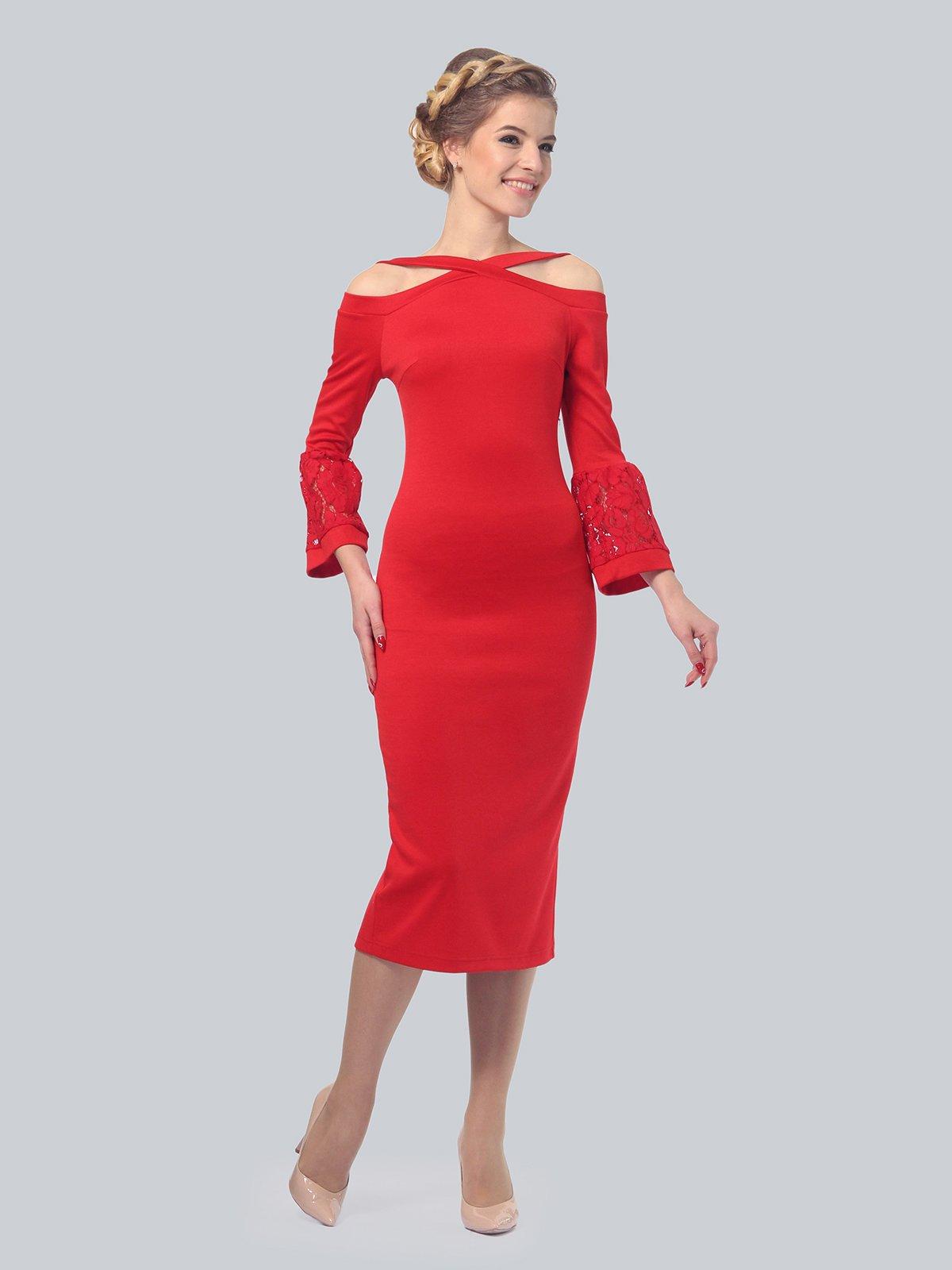 Платье красное | 3939922 | фото 2