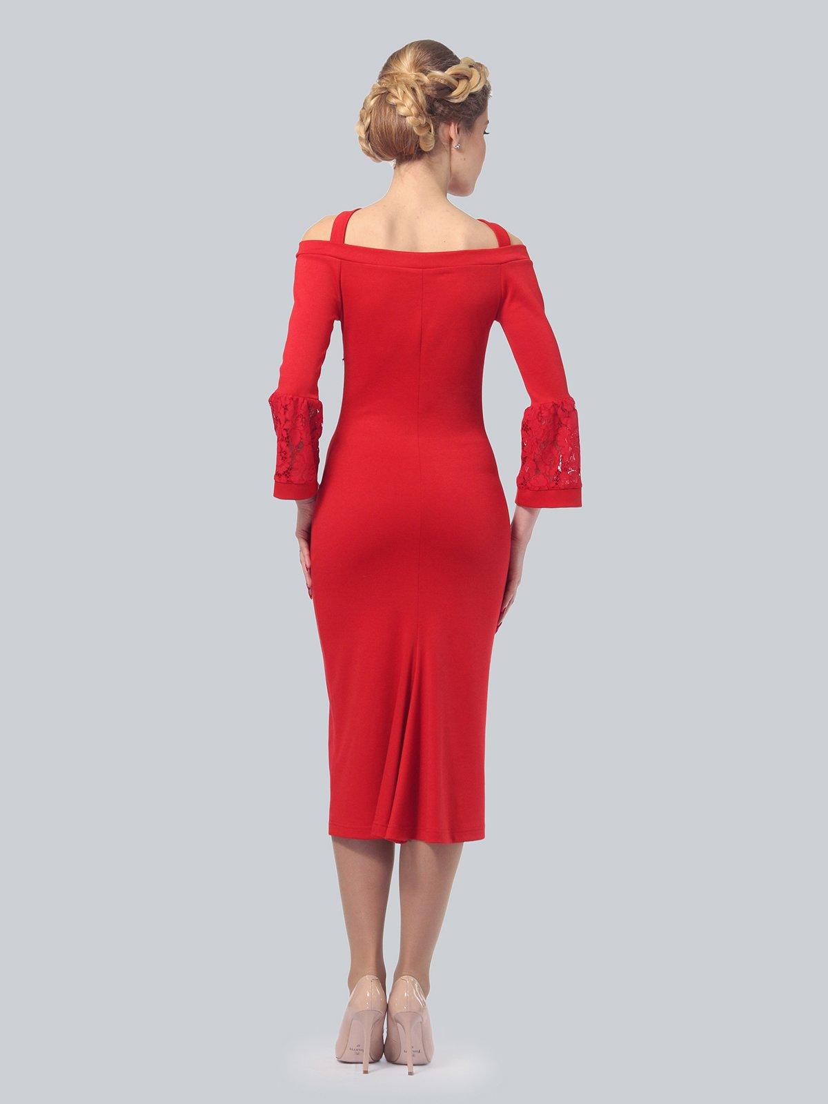 Платье красное | 3939922 | фото 3