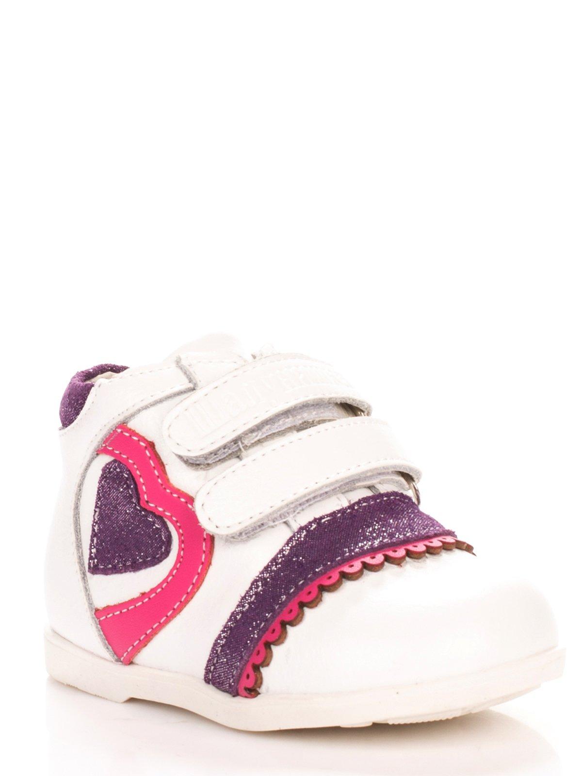 Ботинки белые с контрастной отделкой | 3920155