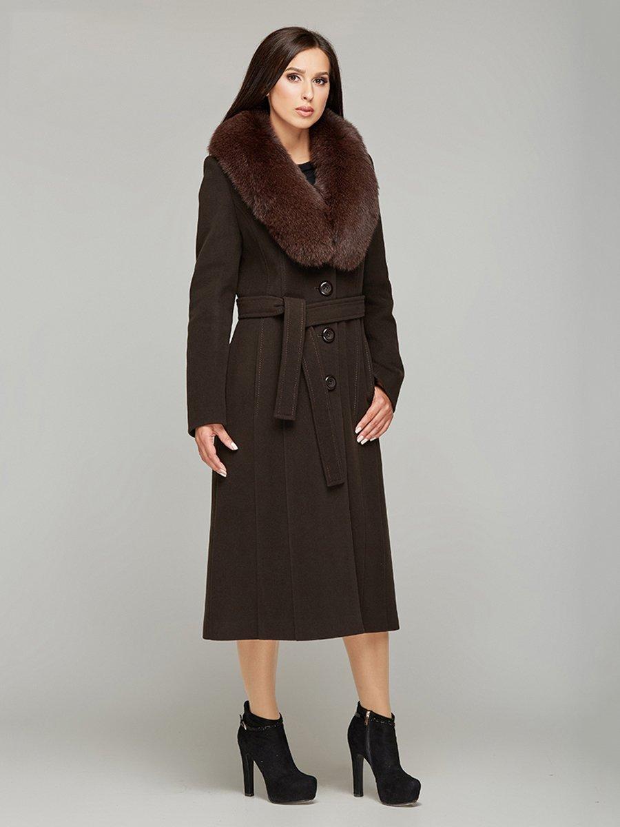Пальто коричневе | 3407814
