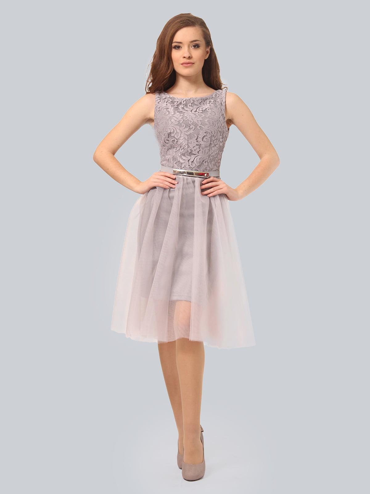 Платье светло-серое | 3958990 | фото 2