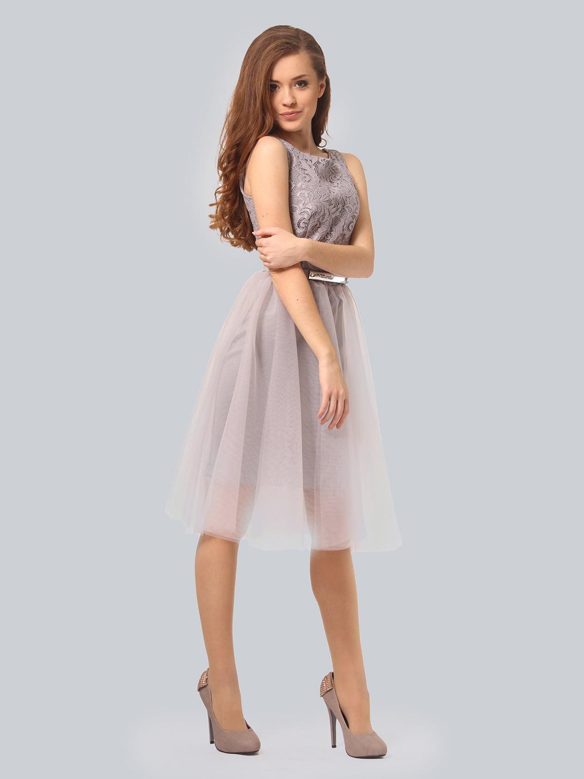 Платье светло-серое | 3958990 | фото 3