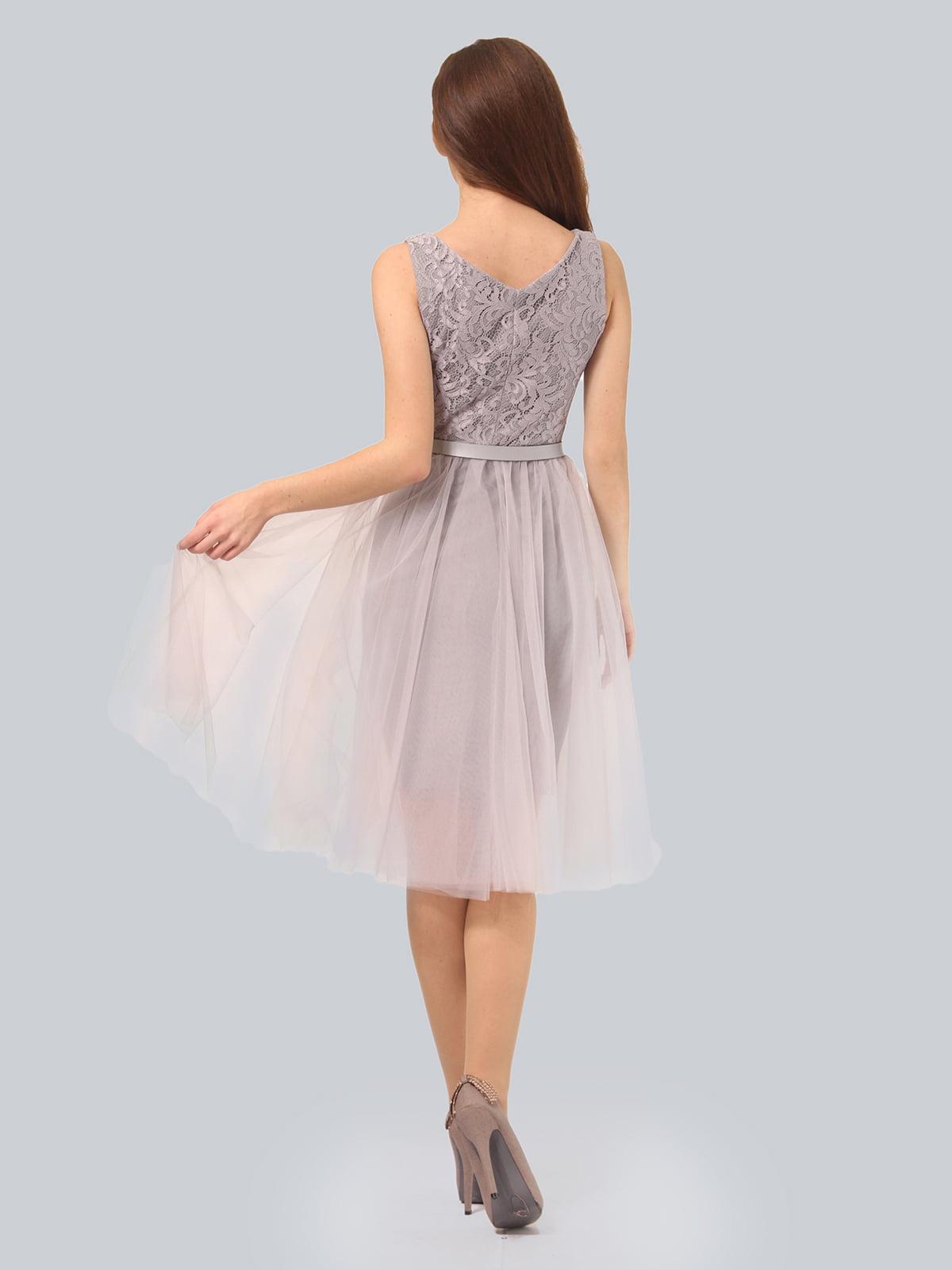 Платье светло-серое | 3958990 | фото 6