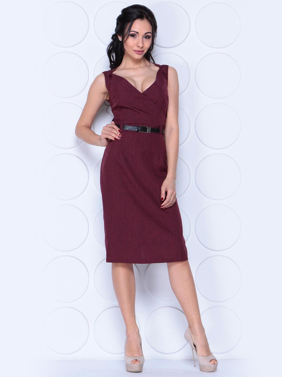 Платье-сарафан сливового цвета | 3959289