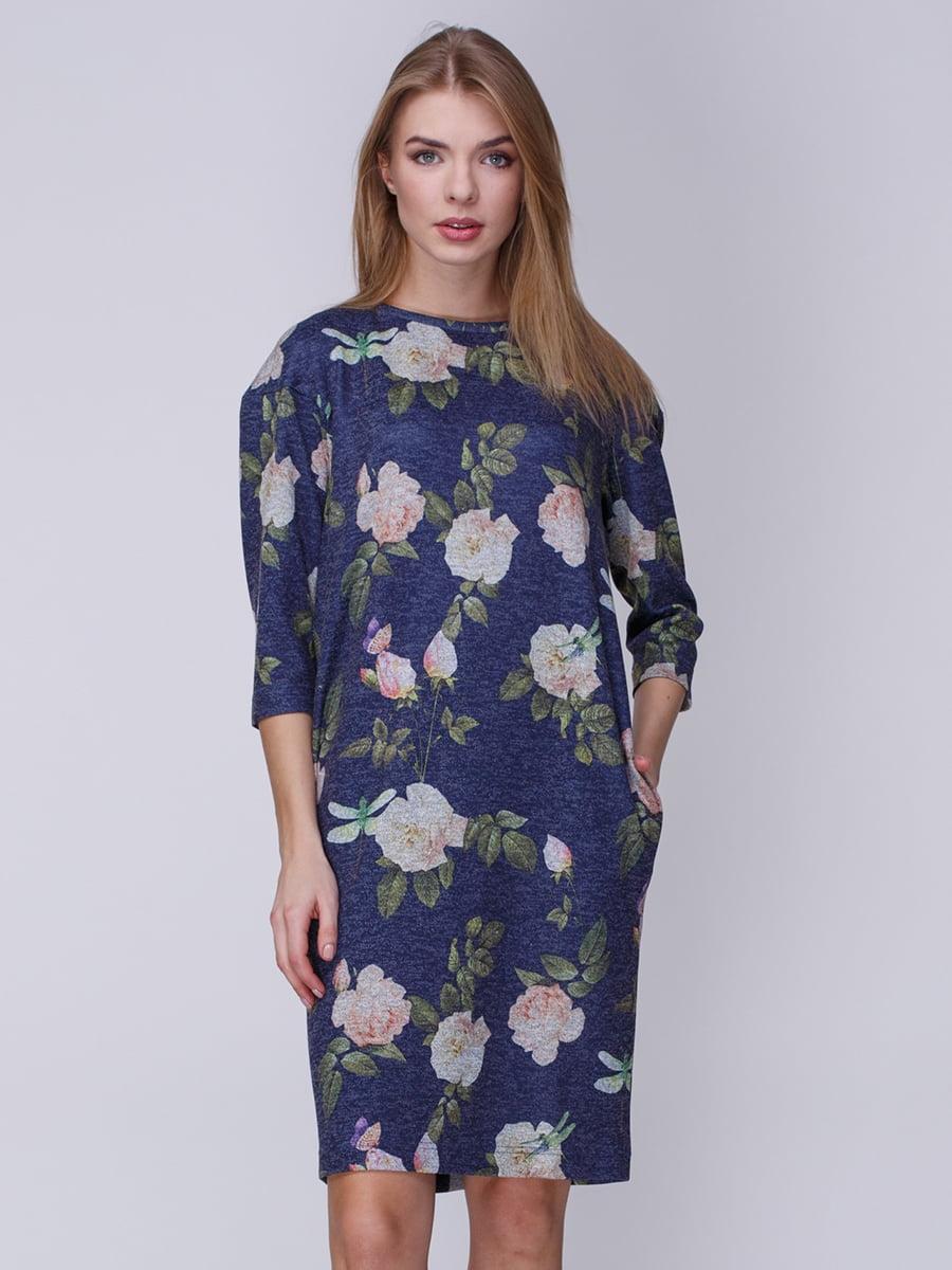 Платье в цветочный принт | 3961653