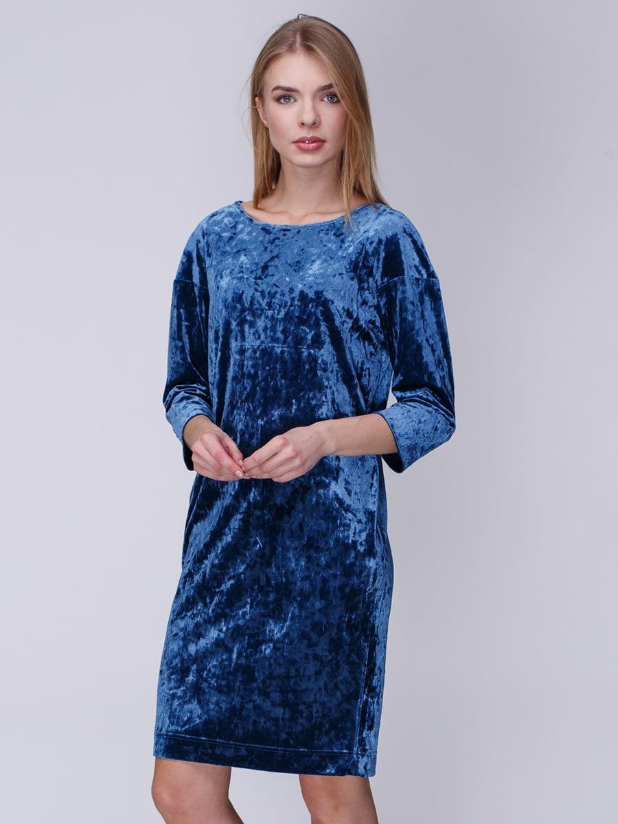 Платье цвета денима | 3961666