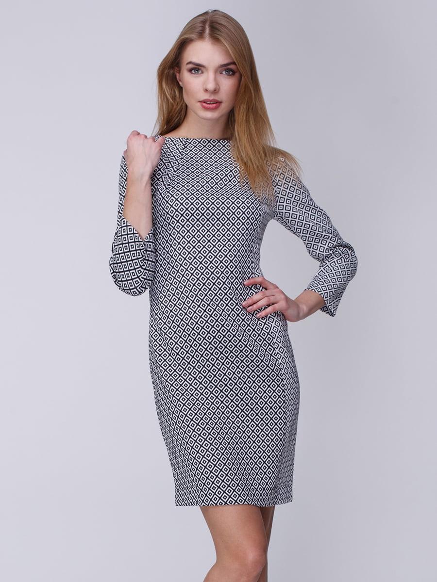 Платье черно-белое | 3961673
